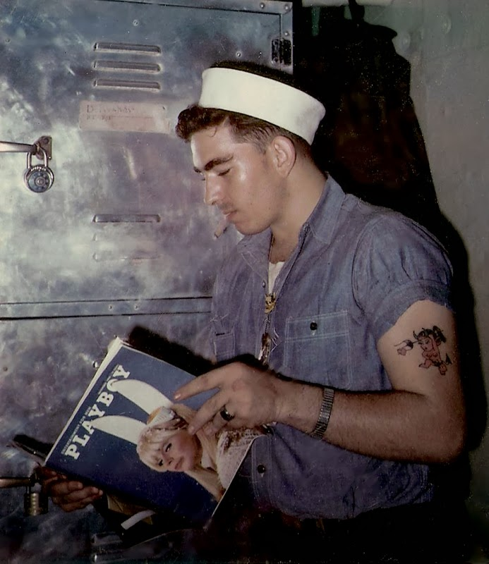 cigar-smoking-us-sailor-reading-playboy-c-1950s