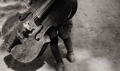 Gypsy boy with cello