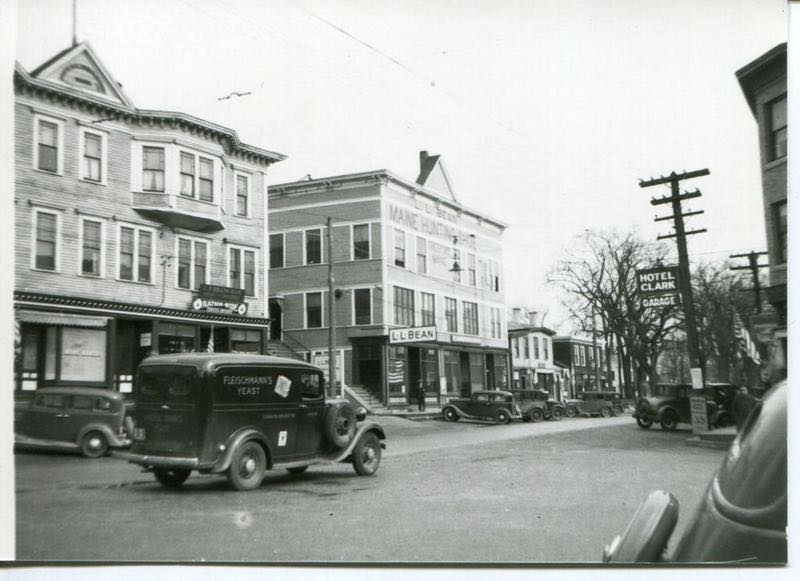 L.L. Bean was already a Main Street fixture in Freeport in the 1930s.