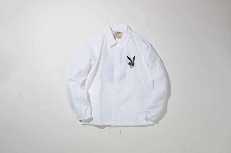 3.PLAYBOY COACH JACKET(WHITE)