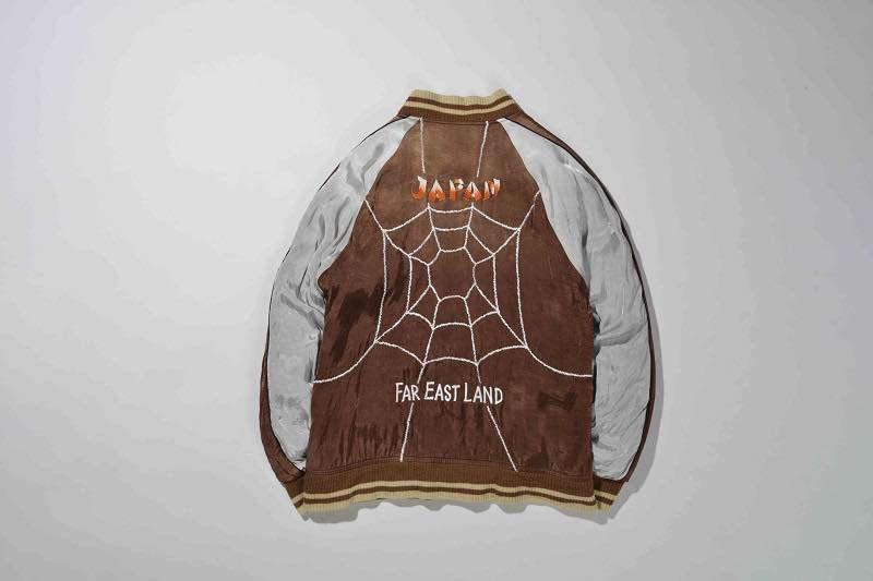 7.SPIDER WEB SOUVENIR JACKET(BROWN×BLACK)BACK