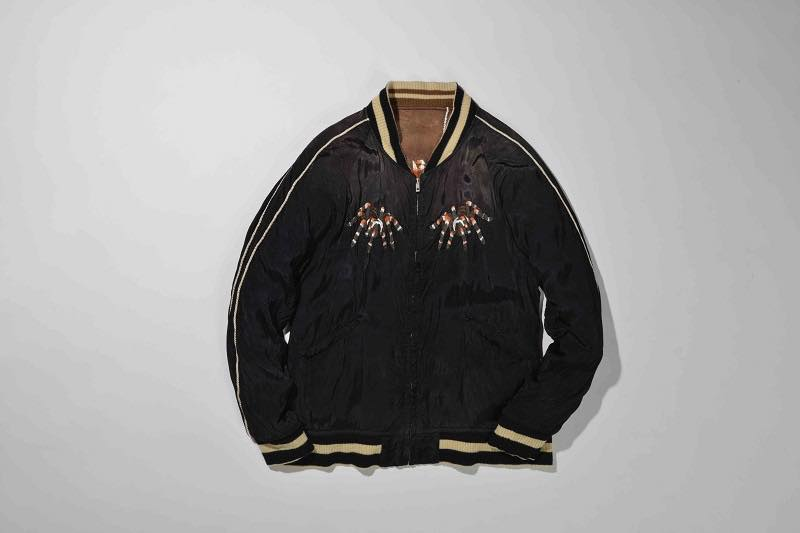 4.SPIDER WEB SOUVENIR JACKET(BLACK×BROWN)