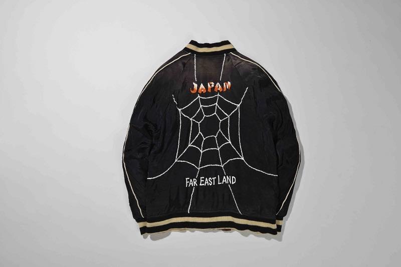 5.SPIDER WEB SOUVENIR JACKET(BLACK×BROWN)BACK