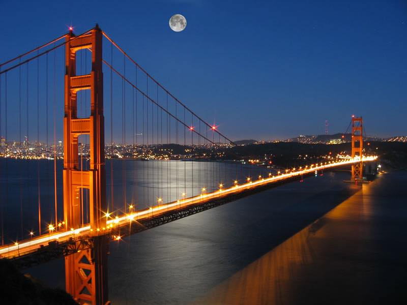 GoldenGateBridgeInMoonLight
