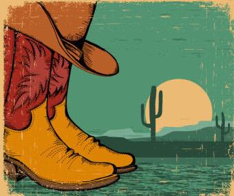 geraktv-western-background-with-cowboy-shoes-and-desert-landscape-on-old-paper